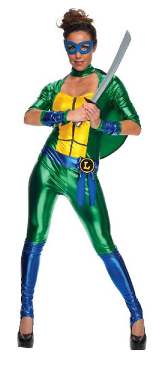 Teenage Mutant Ninja Turtles - Leonardo Jumposuit Womens Costume