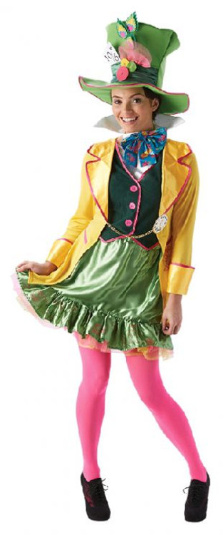 Alice in Wonderland Mad Hatter Ladies Costume