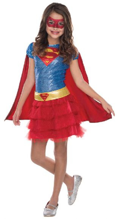 Supergirl Sequin Girls Costume