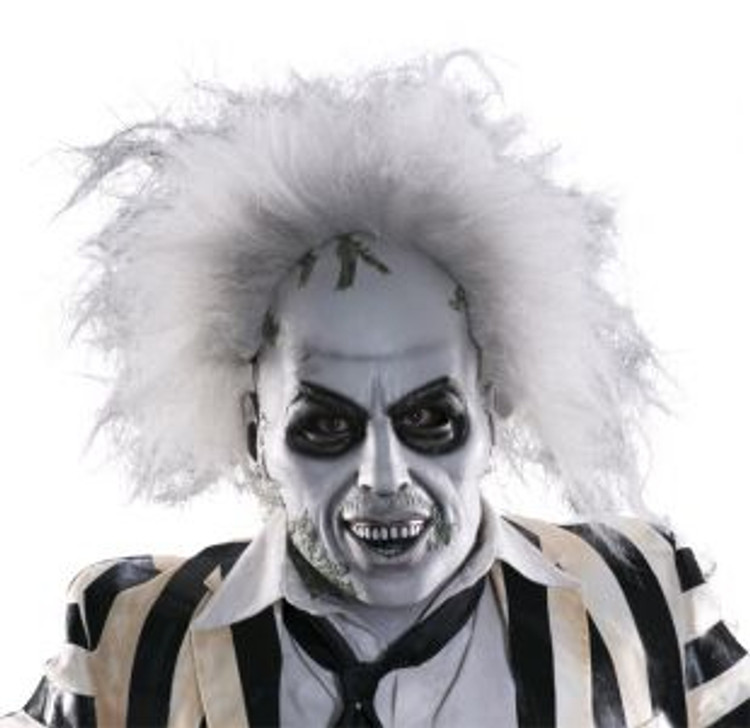 Beetlejuice Overhead Mask with Hair