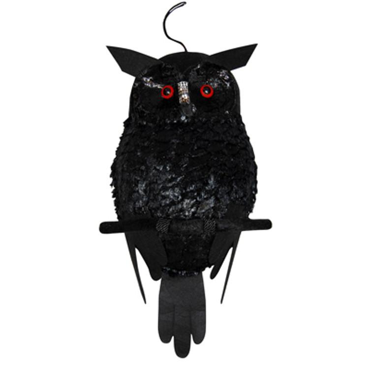 Plush Black Owl w/Light Up Eyes