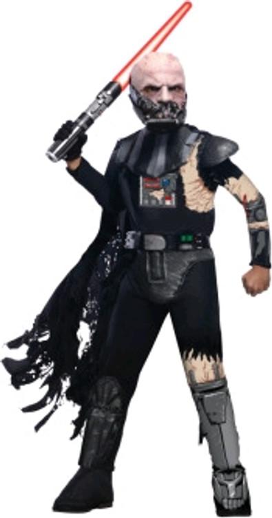 Kids Battle Damaged Darth Vader Costume