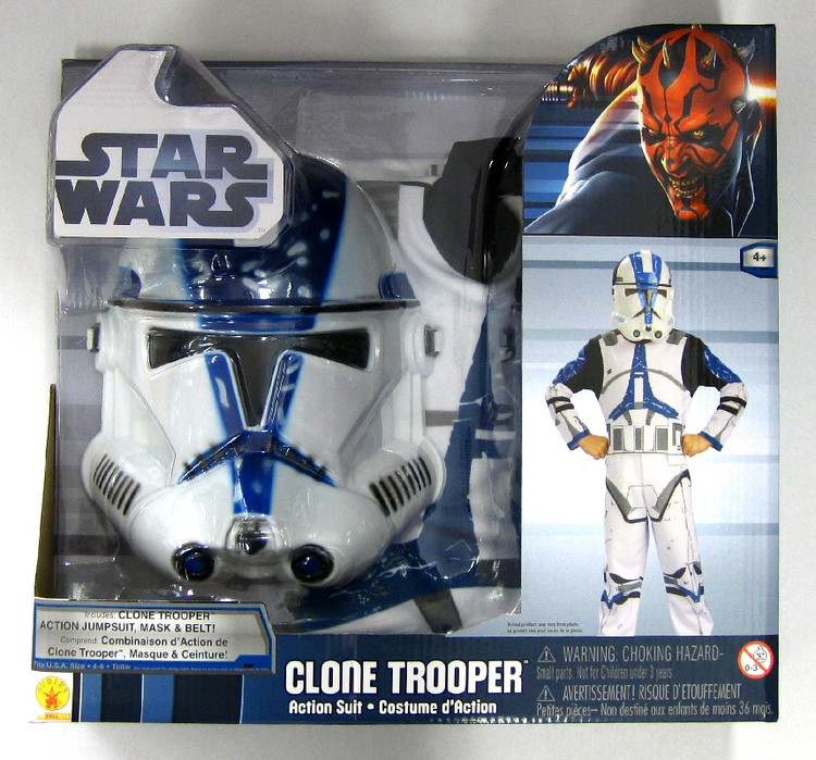Star Wars Clone Trooper Action Suit Boxed Kids Costume