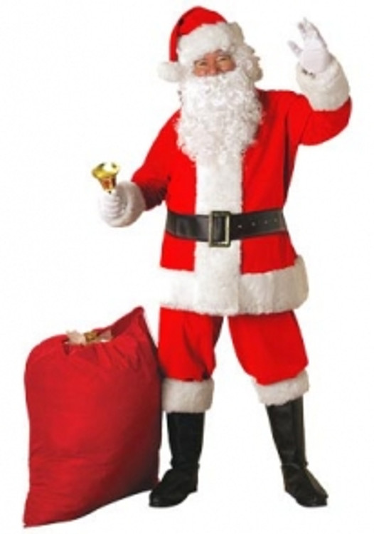 Santa Suit Mens Costume - Cotton