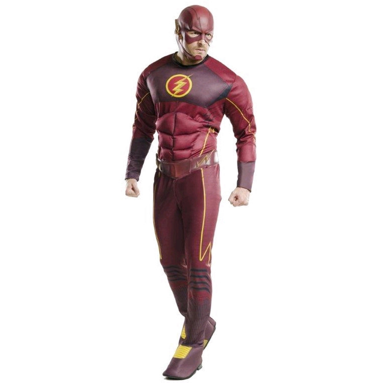 Flash Barry Allen Deluxe Mens Adult Costume