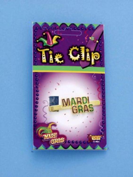 Mardi Gras Tie Clip