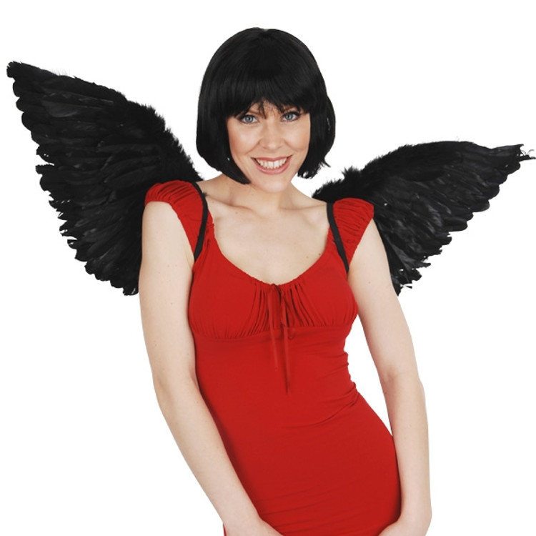 Angel & Fairy Wings Large Black