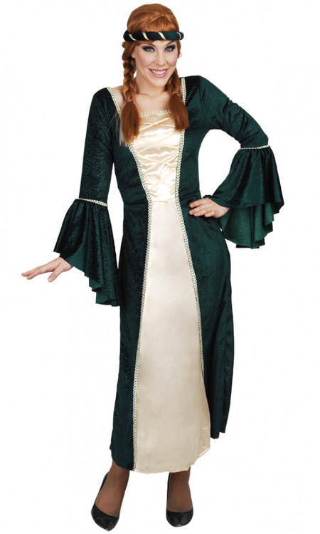 Royal Princess Medieval and Renaissance Fairytale Womens Costume Green