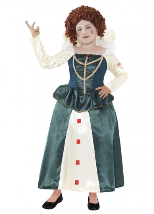 Horrible Histories Elizabeth I Girls Costume