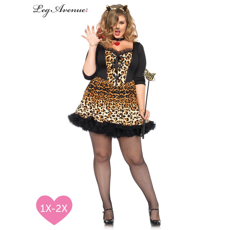 Leopard Wild Cat Sexy Plus Womens Costume