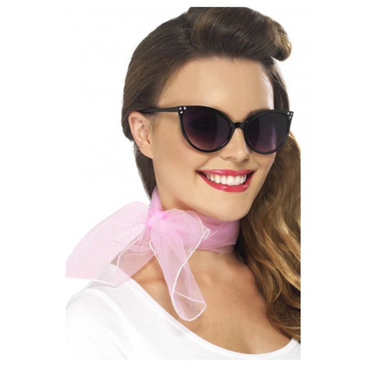 1950s Pink Lady Grease Neck Scarf