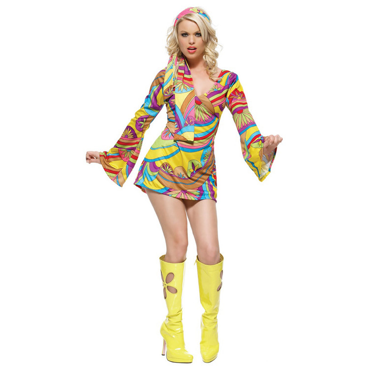 1960s Hippie Go-Go Womens Costume
