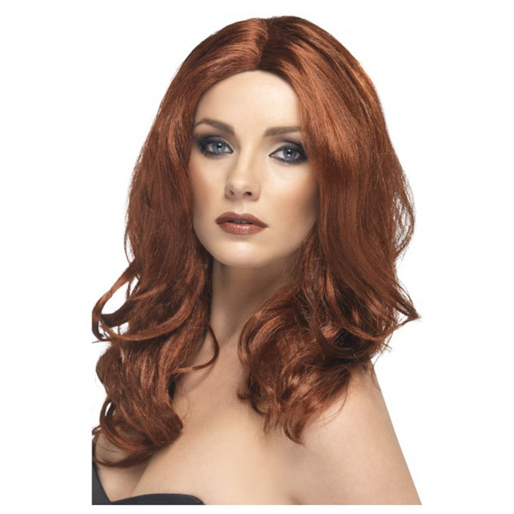Superstar Curly Auburn Wig