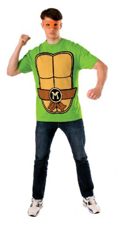 Teenage Mutant Ninja Turtles - Michelangelo Teashirt Mens Costume