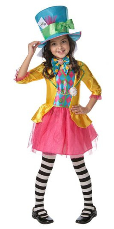 Alice in Wonderland Mad Hatter Girls Teen Costume