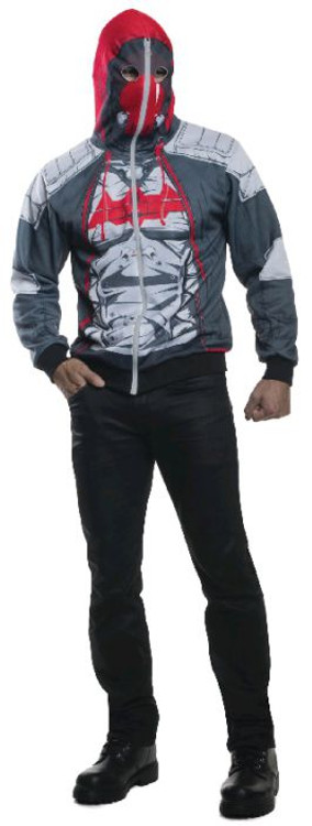 Batman - Red Hood Arkham Hoodie Adult Costume