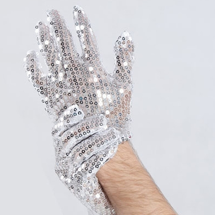 Michael Jackson Silver Sequin Gloves