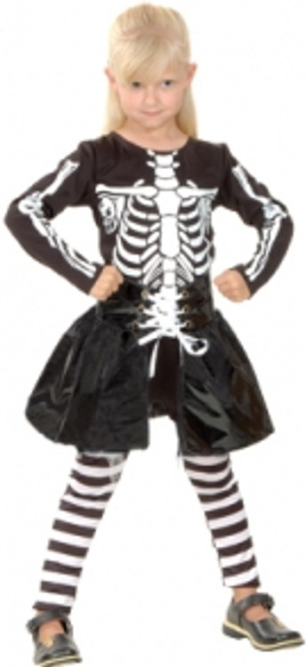 Skeleton Lil Girls Costume