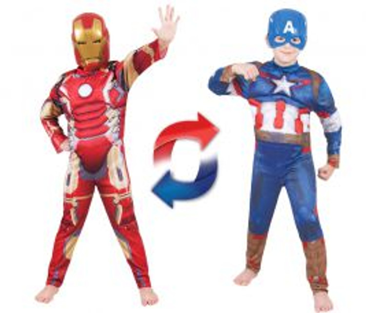 Iron Man to Captain America Reversible Kids Costume