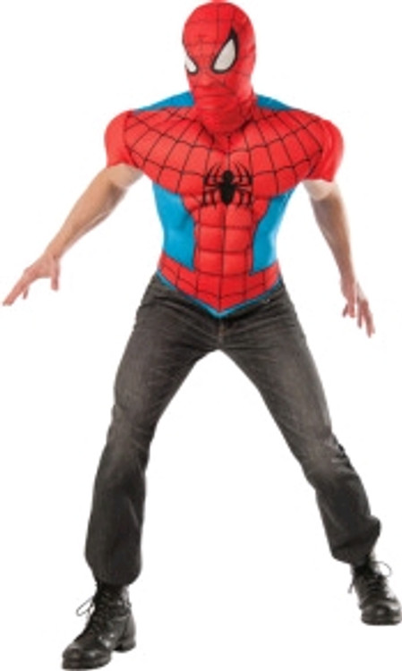 Spiderman Muscle Chest Adult Shirt