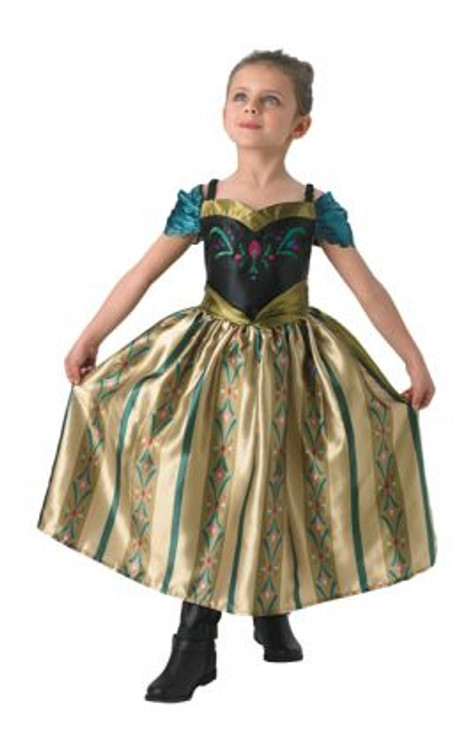 Frozen Anna Coronation Gown Deluxe Girls Costumes