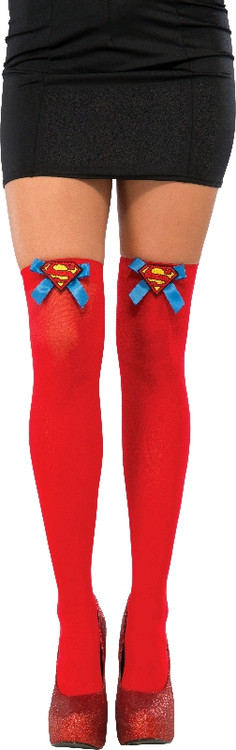 Supergirl Thigh High Stockings