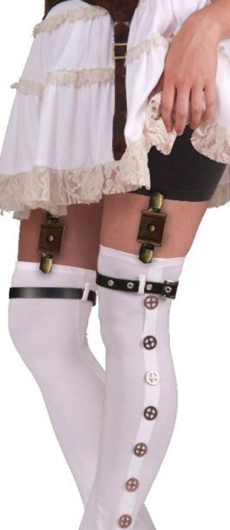 Steampunk Garter with Buckles