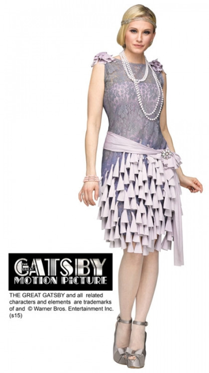 1920s Gatsby Daisy Buchanan Bluebells Womans Costume