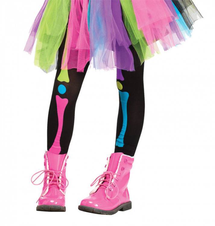 Skeleton Rainbow Bones Kids Leggings