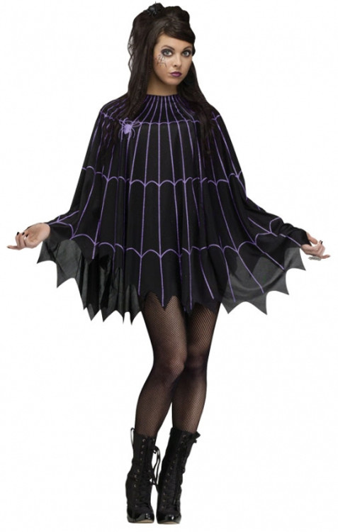 Spiderweb Adult Poncho