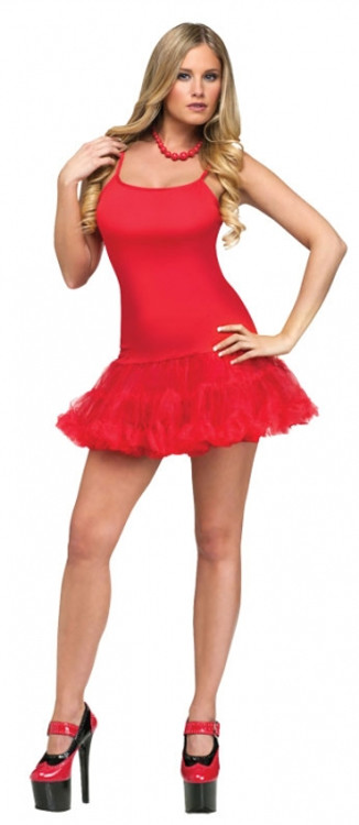 Petticoat Dress Adult Red