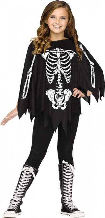 Skeleton Kids Poncho
