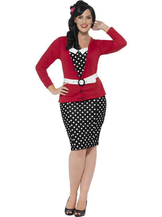 1950s Pin up Plus Size Womens Costume