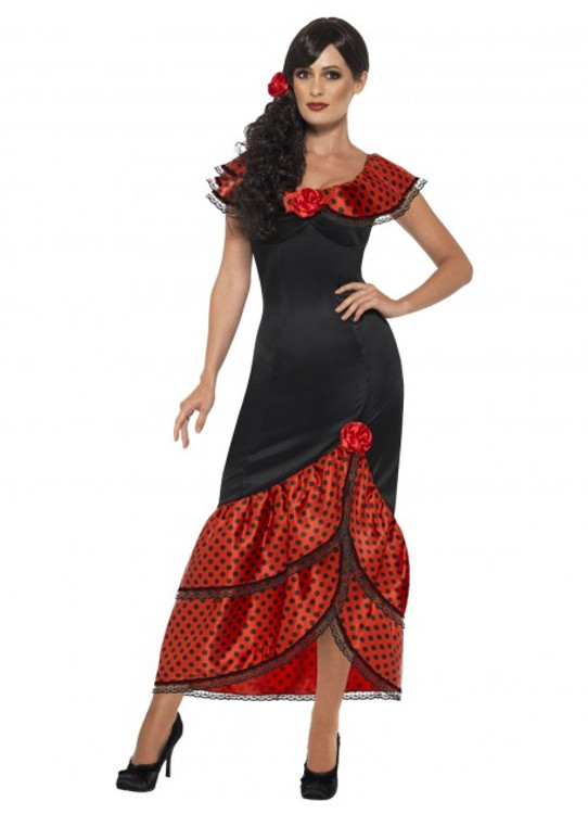 Spanish Flamenco Senorita Costume