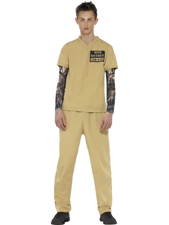 Prisoner Convict Teen Costume