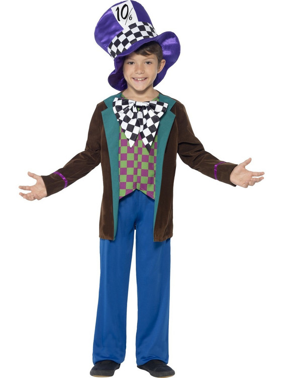 Alice In Wonderland Mad Hatter Kids Costume
