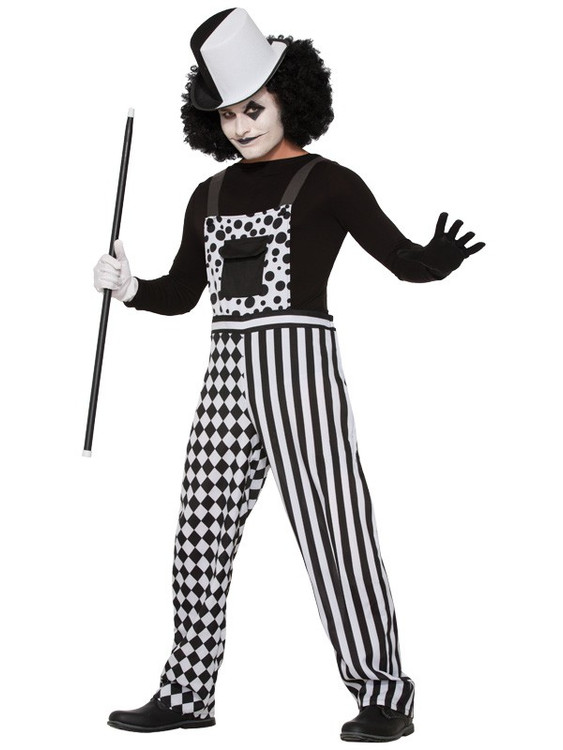Harlequin Clown Mime Adult Costume