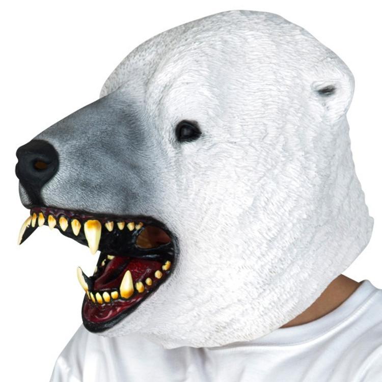 Polar Bear Full Head Mask