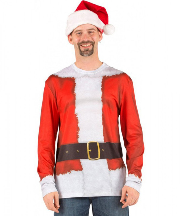 Santa Suit Long Sleeve Top