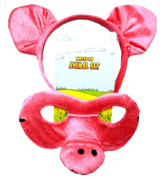 Pig Animal Headband & Mask Set