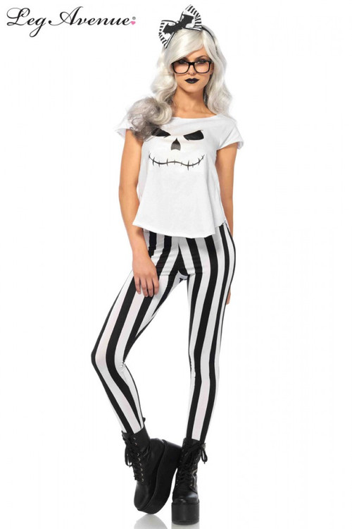 Halloween Hipster Skeleton Womens Costume