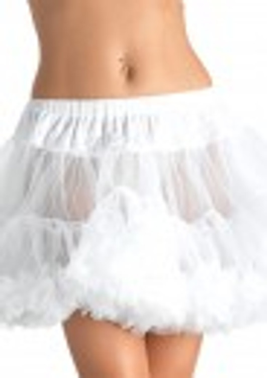 Petticoat Layered Plus Size White