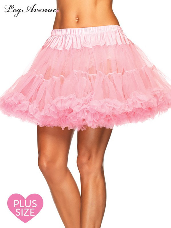 Petticoat Layered Plus Size Pink