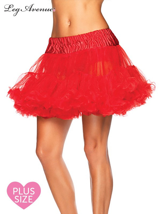 Petticoat Layered Plus Size Red