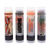 Our Halloween Pack  You're going to go wild over these 4 moisturizing and multi flavored lip balms! Each themed Halloween tube offers 3 flavors... they are just waiting for you to try them all! The colors in the tubes are beautiful BUT they are only to show you what flavor you are on, or going to next!  For example: The first tube on the left in the picture of Our Halloween Pack... The first flavor you will enjoy is the Candy Corn for the whole white section, once the white is all gone you will go to the orange which is Pumpkin, then onto yellow and enjoy Butterscotch!  All of the lip balms no matter what color in the tube... apply clear to the lips!  Below you will find a complete list of each lip balm and the wonderful flavors you will enjoy. When you get Our Halloween Pack you will have multiple lip balm flavors for yourself or plenty to share with all of your friends to enjoy! These lip balms are moisturizing and are amazing! By ordering Our Halloween 4 Pack you save...$1.00, Higher discounts if you click on the Bulk pricing!!  Trick or Treat ~                White: Candy Corn, Orange: Pumpkin Cheesecake, and Yellow: Butterscotch BOO! ~                          Black: Chocolate, Orange: Ooey Gooey Carmel, and Green: Sour Apple Happy Halloween ~           Orange: Pumpkin Cheesecake, White: Marshmellow, and Black: Ooey Gooey Carmel Beware of Little Monsters ~  Purple: Cotton Candy, Green: Bubble Gum, and Orange: Gummy Bear  *** These are shown in the picture from left to right  All Gettin Lippy flavored lip balms:  The first ever multi-flavored lip balm... never get tired of just one flavor! Unlike other lip balms, Gettin Lippy lip balms are made to deliver the best moisturizing lip balm Moisturizing, and make your lips feel like silk! Long lasting, you might want to reapply for the wonderful aroma to enjoy, but the lip balm last a long time! No sticky feeling on your lips! Best lip balm!!! Applies Clear to Lips! Great gift idea for holidays, special occasions, or to share with friends! MADE IN THE USA!!