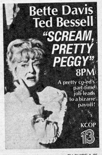 Remember those Made for TV horrors of the week? Well check out this rarity with Bette Davis from the early 1970s