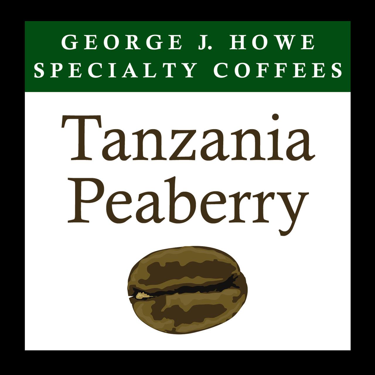 Tanzania Peaberry Coffee, Mount Kilimanjaro, Whole Bean ...