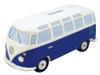 VW T1 Classic Blue Campervan Money Box
