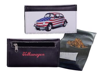 Volkswagen Black USA Beetle Tobacco Pouch
