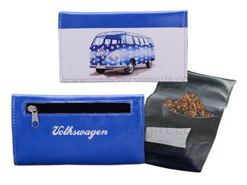 Volkswagen Blue Campervan Tobacco Pouch